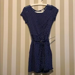 H&M Navy Polka Dot Dress